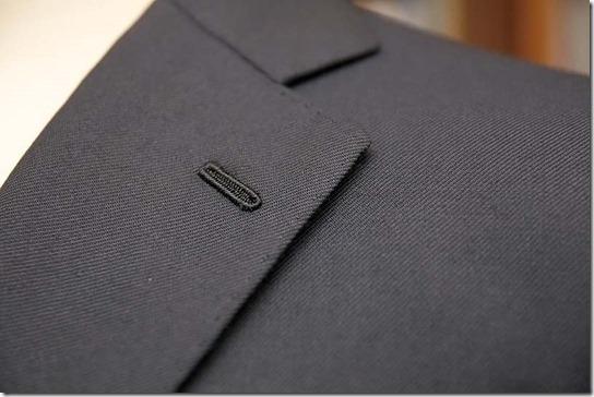 手縫いジャケットのフラワーホール