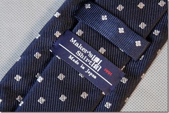 鎌倉シャツのネクタイのタグ