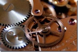 機械式時計の機械部分