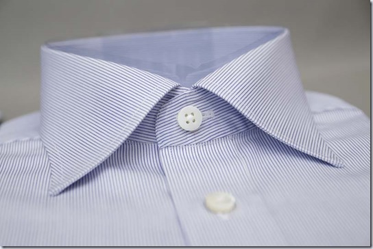 フェールムラカミのシャツ、襟部分