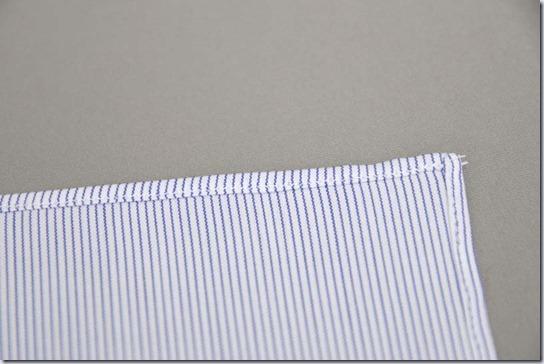 ポケットチーフの端
