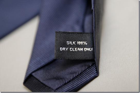 ネクタイの品質表示