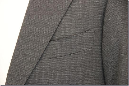 スーツの胸ポケット