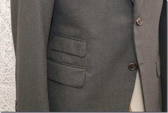 スーツのチェンジポケット
