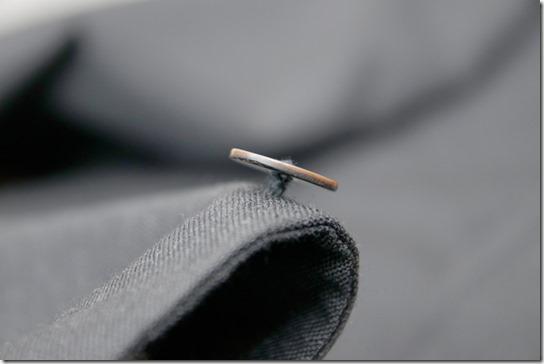 ジャケット用茶蝶貝ボタン