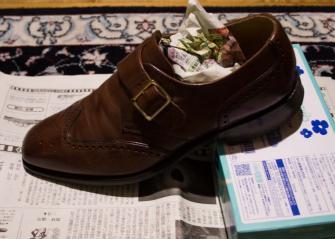 乾燥中の靴